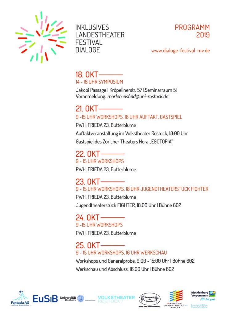 Programm der Festivalwoche